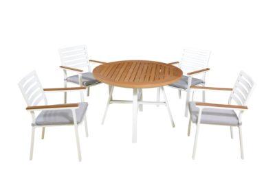 """שולחן אלומיניום קוטר 110 ס""""מ דגם 8858"""