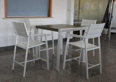 שולחן בר + 4 כסאות לגינה דגם 8866