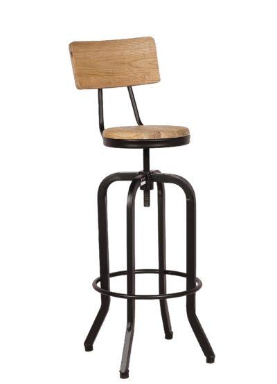 כיסא בר מעץ כפרי דגם 8598