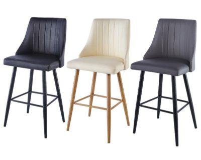 כיסא בר מרופד דגם 8847