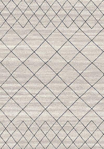 שטיח גאומטרי אפור דגם 8869