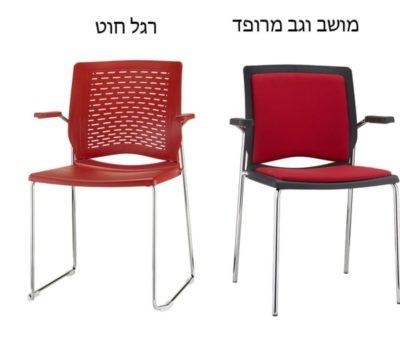 כיסא מרופד וגב רשת דגם 7735