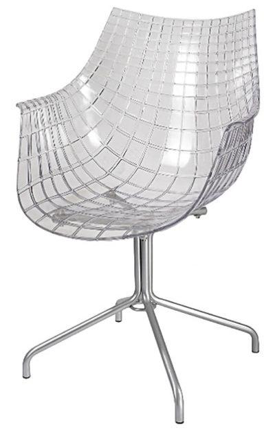 דגם כיסא המתנה עשוי אקריל שקוף