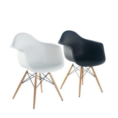 דגם כסא פלסטיק שילוב עץ אוכל 53523