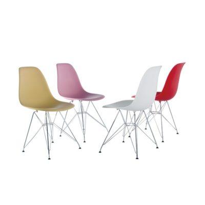 כסא פלסטיק שלוב ניקל לפינת אוכל 456345345