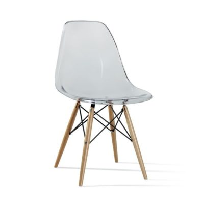 דגם כסא שקוף שלוב עץ לפינת אוכל 555444545
