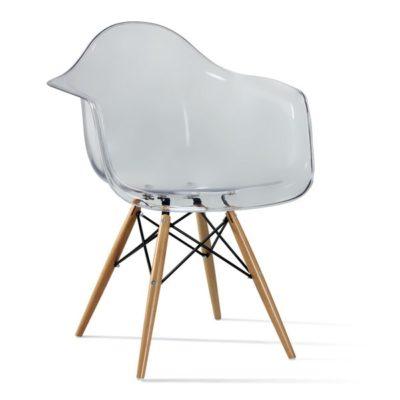 דגם כסא שקוף שלוב עץ לפינת אוכל 75546