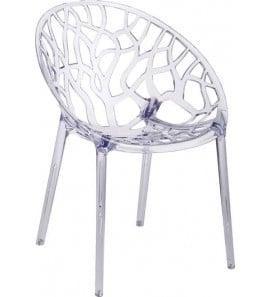 כסא פלסטיק שקוף פינת אוכל 19641
