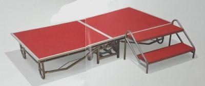 במה לאירועים בנויה משתי חלקים דגם הרגלייםTS-2   ודגם הבמה MS-183