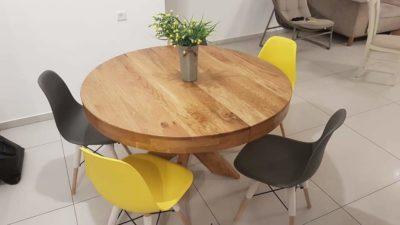 שולחן לפינת אוכל עגול נפתח+ 6כיסאות 5547893
