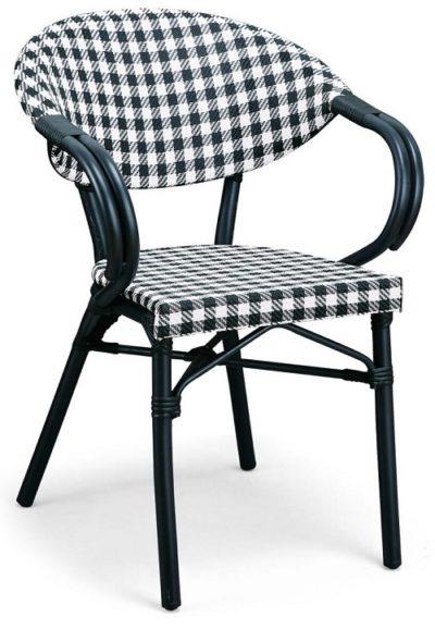 כיסא לפינת אוכל עם ידיות בעיצוב מיוחד דגם 5689