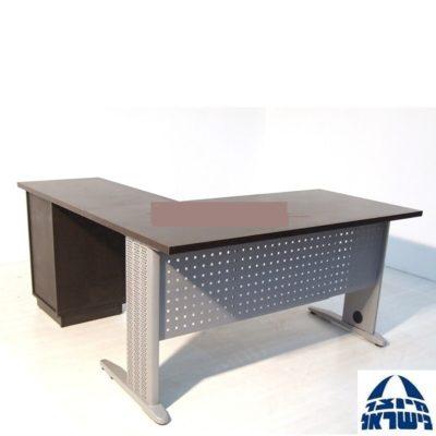 שולחן משרדי 1.80 פלטה ישרה רגליים מתכת כולל שלוחה