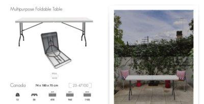 שולחן מתקפל מפלסטיק 180 (244589)