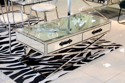 שולחן סלון מלבני רסיטל רגליים נירוסטה דגם 2001