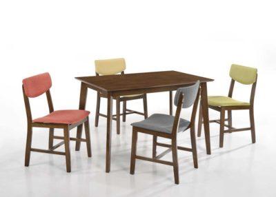 שולחן פינת אוכל+ 4 כיסאות דגם 203040