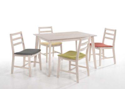 שולחן פינת אוכל +4 כיסאות דגם 405060