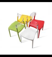 כסא פלסטיק שקוף לפינת אוכל 15947