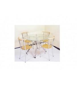 דגם שולחן זכוכית עגול