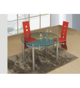 דגם שולחן לפינת אוכל מזכוכית עגול