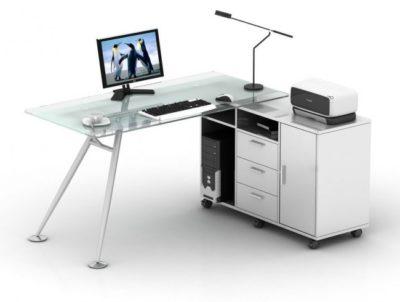 דגם שולחן מחשב כריסטל 1.60