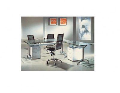 דגם שולחן מנהלים מזכוכית