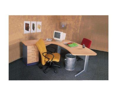 דגם שולחן מנהל כולל שלוחה ומגירות 1145