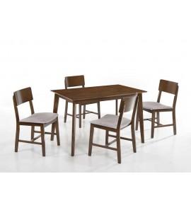 שולחן פינת אוכל+ 4 כיסאות דגם 506070