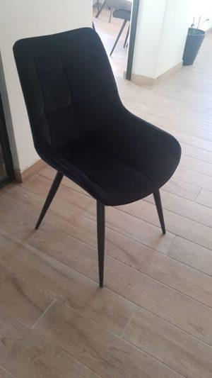 כיסא מרופד שחור 256