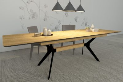 """שולחן פלטינום פינת אוכל נפתח 64292 (200*100 ס""""מ)"""
