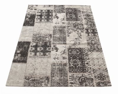 שטיח לסלון פטרה שחור 280X350 כותנה