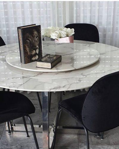 שולחן פינת אוכל קוטר 140 מסתובב לסלטים