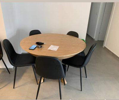 שולחן לפינת אוכל עגול נפתח+6כיסאות לפי מידה 6104613